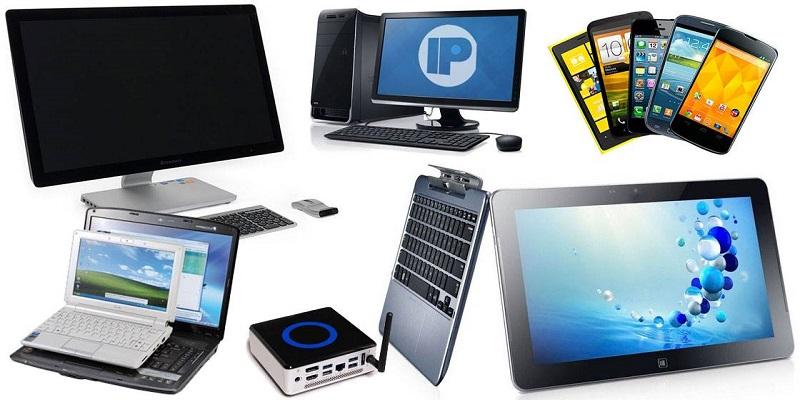 ноутбуки, мониторы, компьютеры, планшеты, смартфоны, проекторы, моноблоки, электронные книги, Wi-Fi оборудование